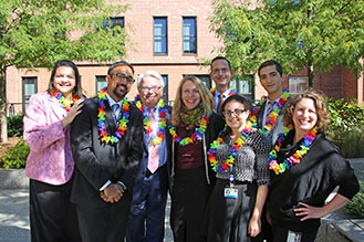 Brigham Health's LGBT Employee Resources Group flag raising