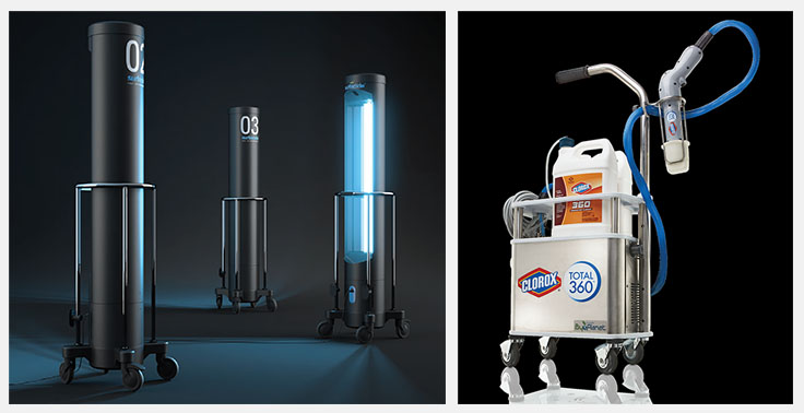 Surfacide® Helios Disinfection System and Clorox products