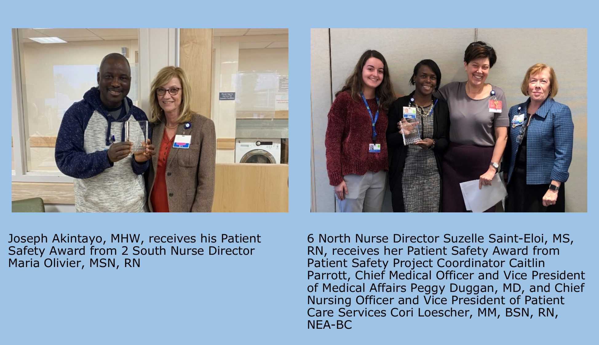 December 2019 Patient Safety Award